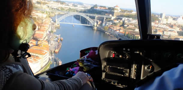 passeio de helicoptero, porto